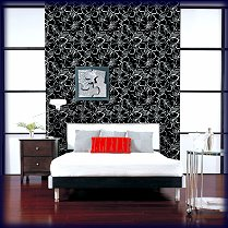 g67hh branch tapete schwarz wei. Black Bedroom Furniture Sets. Home Design Ideas